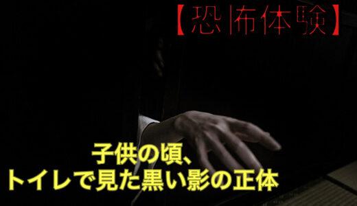 【恐怖体験】子供の頃、トイレで見た黒い影の正体