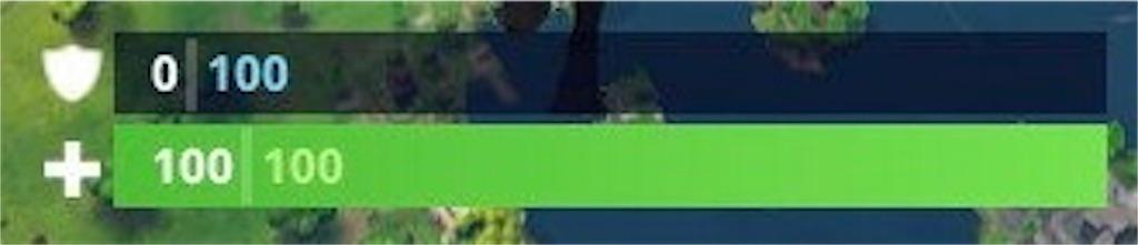 【Fortnite(フォートナイト)】体力ゲージとシールド