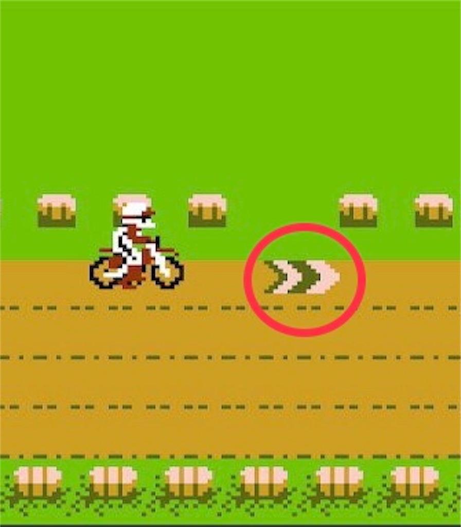 ファミコン『エキサイトバイク』クールゾーン
