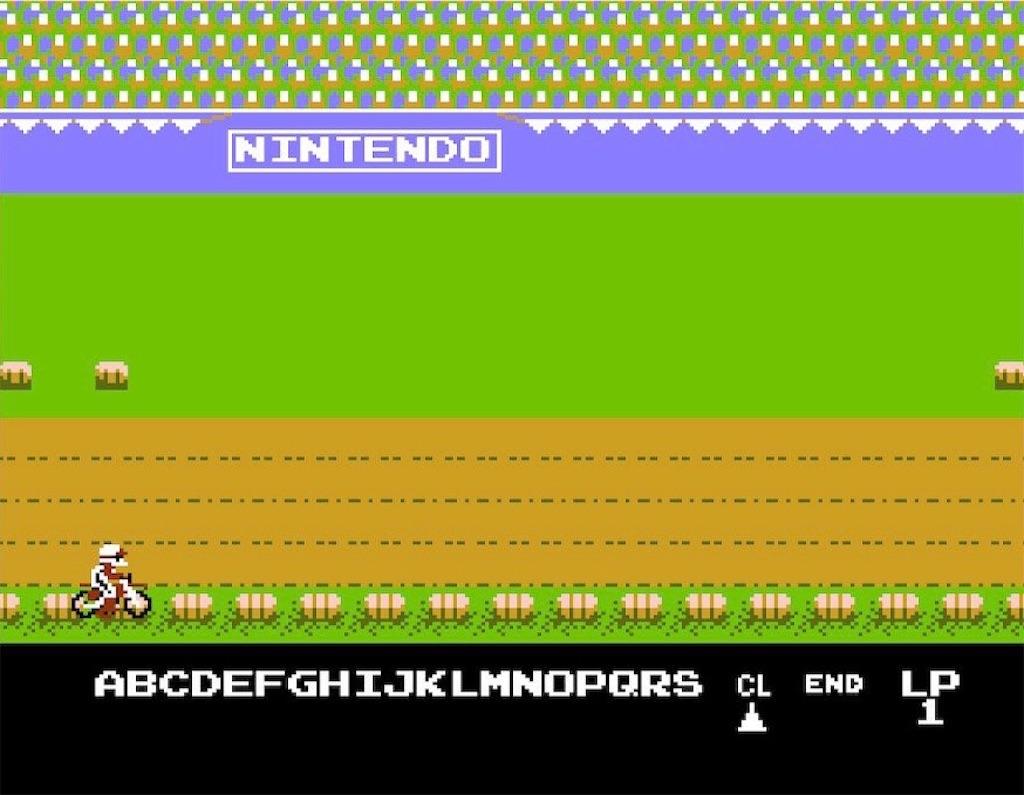 ファミコン『エキサイトバイク』デザインモード