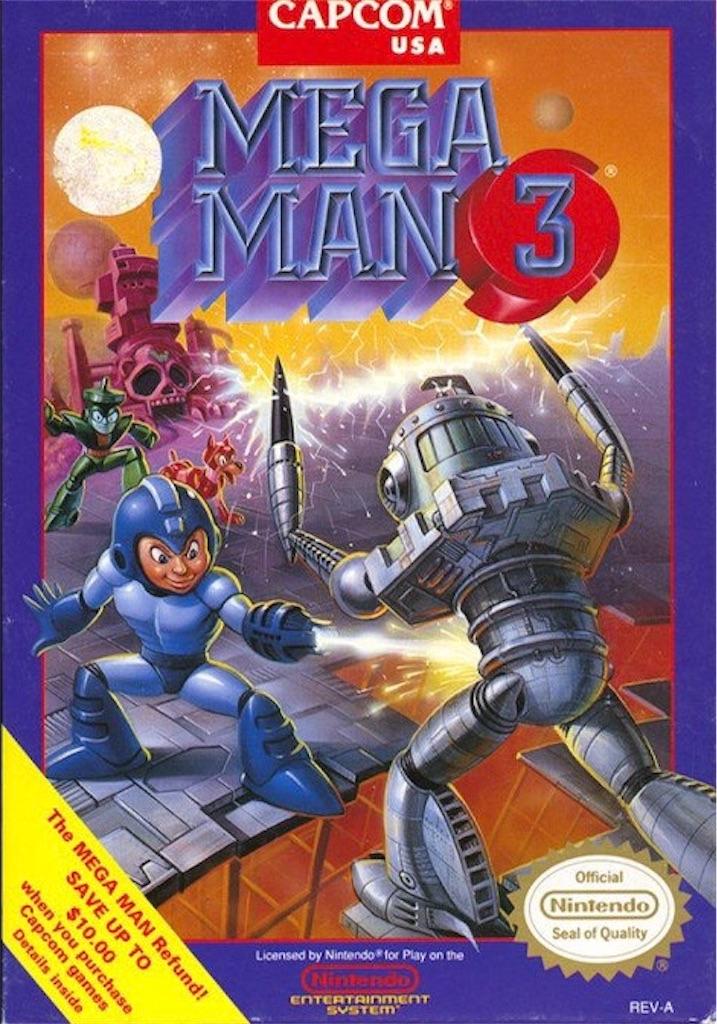 『MEGAMAN3』パッケージイラスト(アメリカ版)