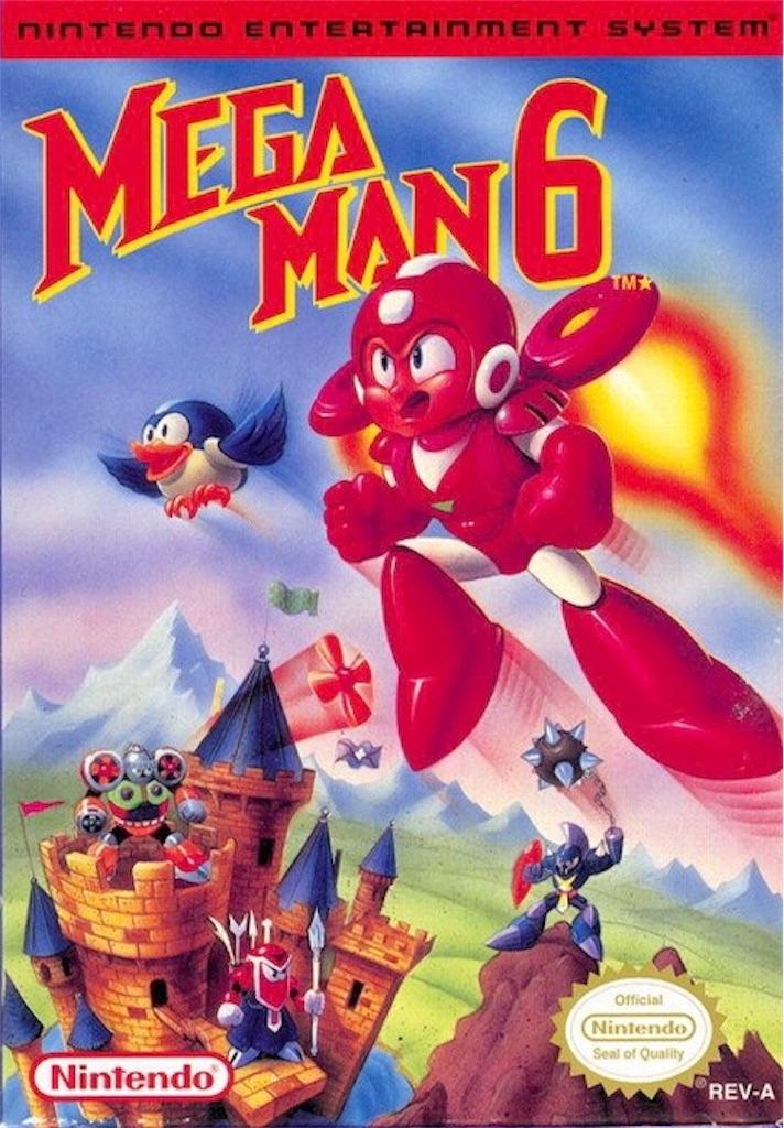 『MEGAMAN6』パッケージイラスト(アメリカ版)