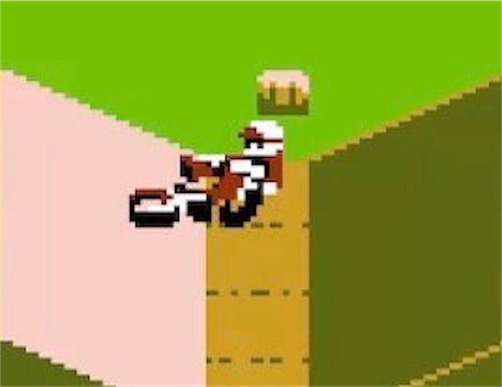ファミコン『エキサイトバイク』転倒
