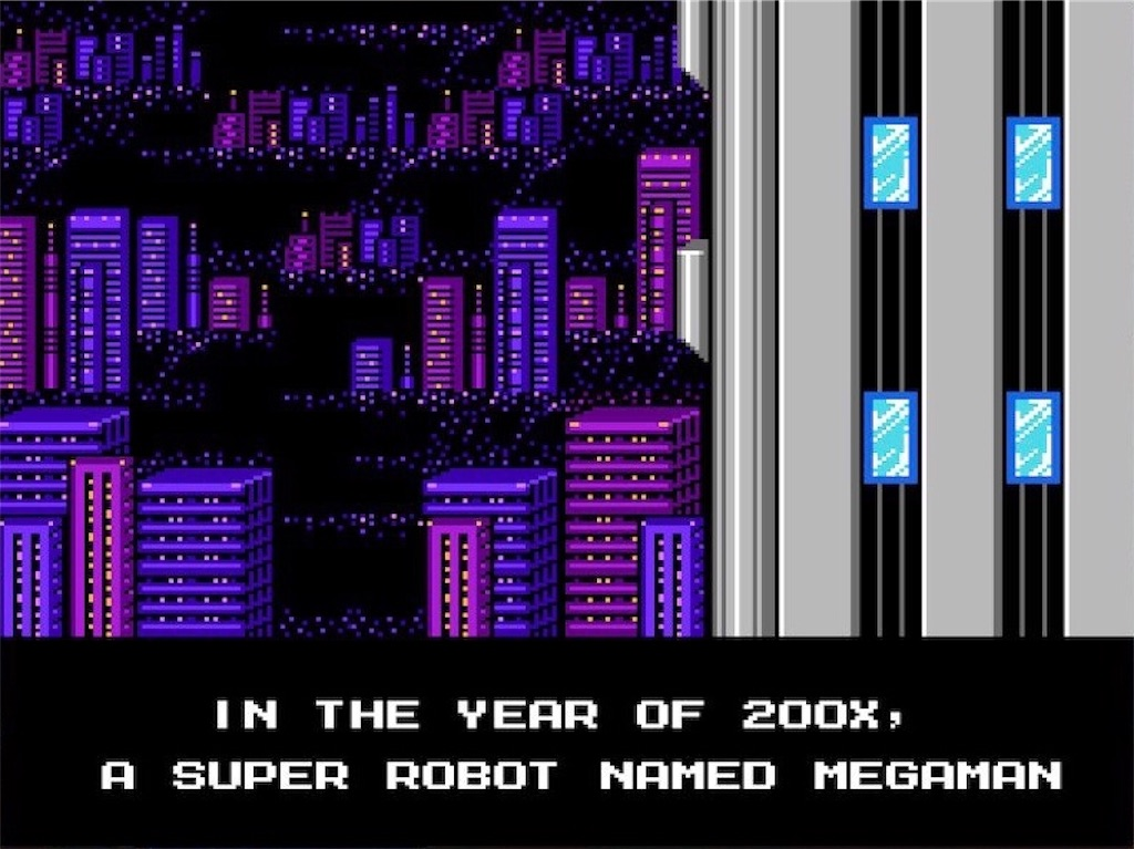 『MEGAMAN2』タイトル画面(アメリカ版)