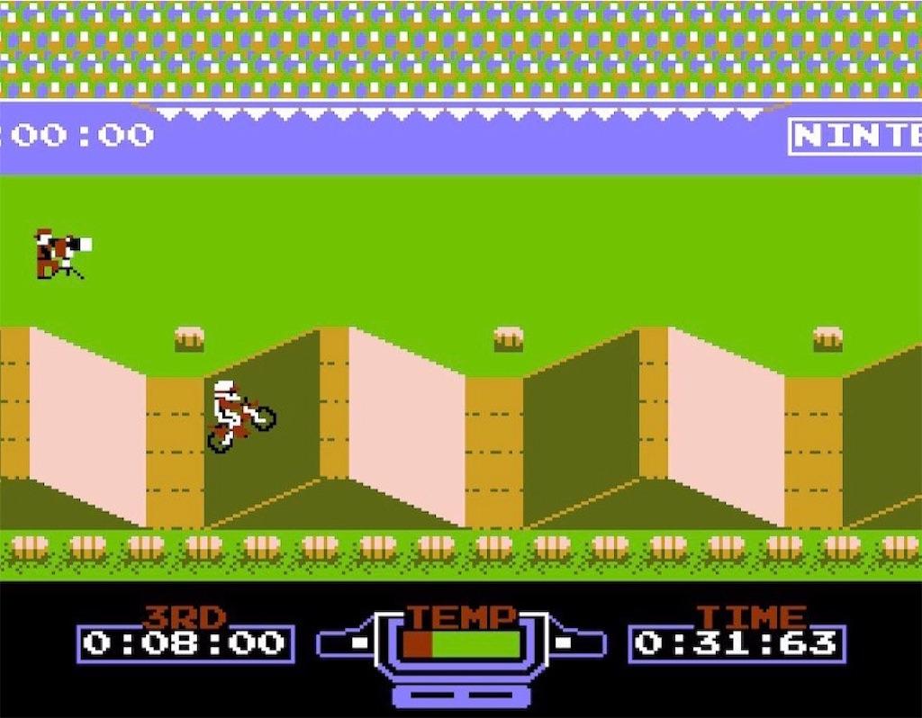 ファミコン『エキサイトバイク』着地