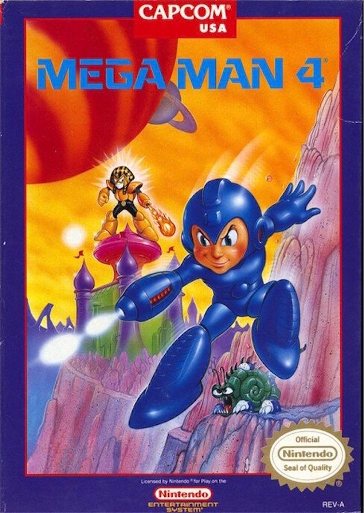 『MEGAMAN4』パッケージイラスト(アメリカ版)