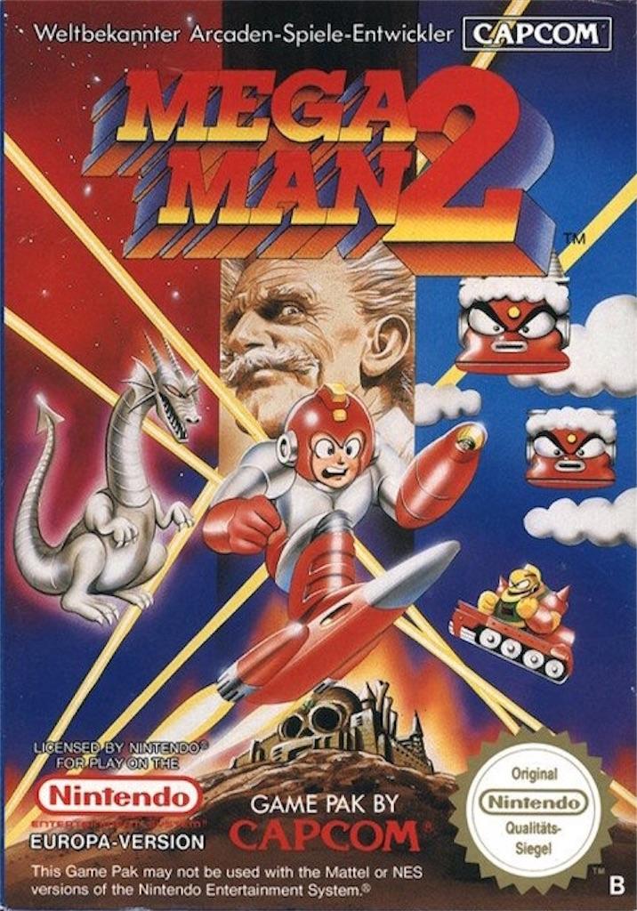 『MEGAMAN2』パッケージイラスト(ヨーロッパ版)