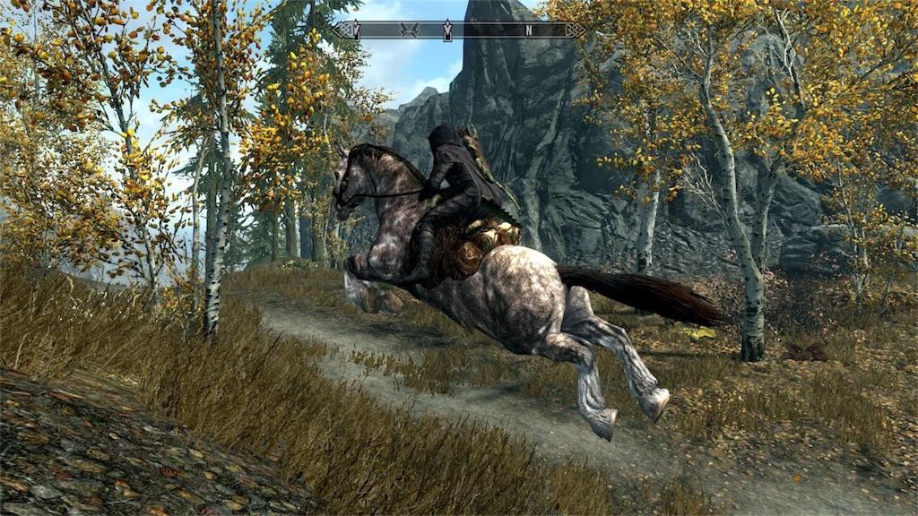 馬を駆るナイチン