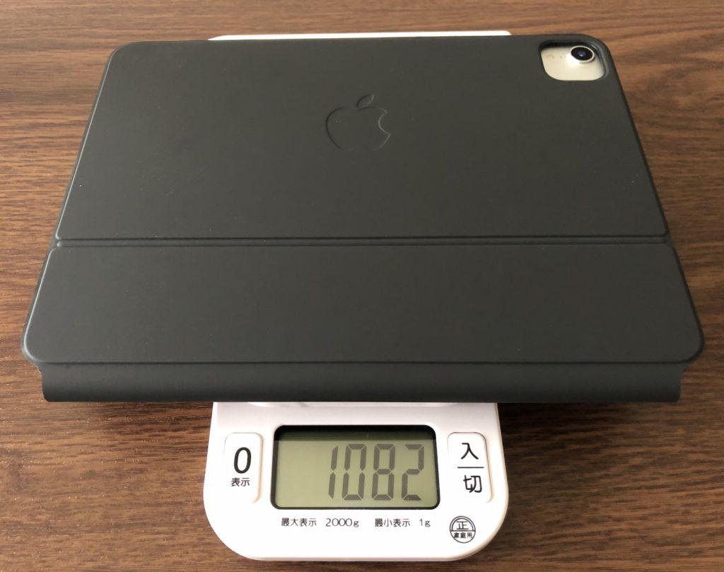 11インチiPad ProにMagic Keyboardを装着した時の重さ