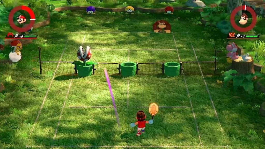 『マリオテニスエース』パックンフラワーの森