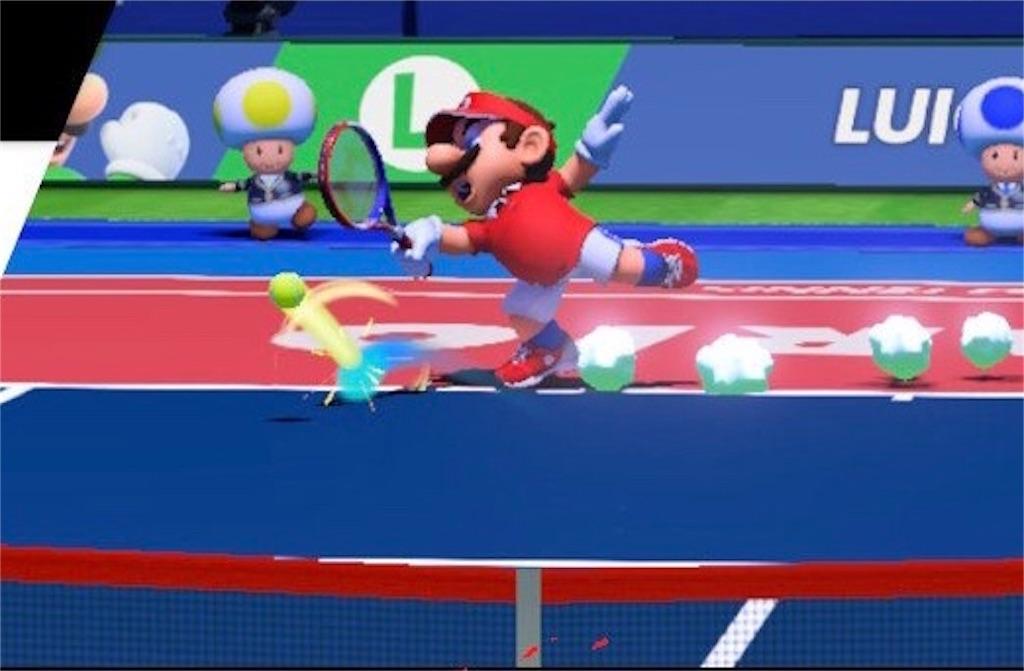 『マリオテニスエース』体勢をくずす