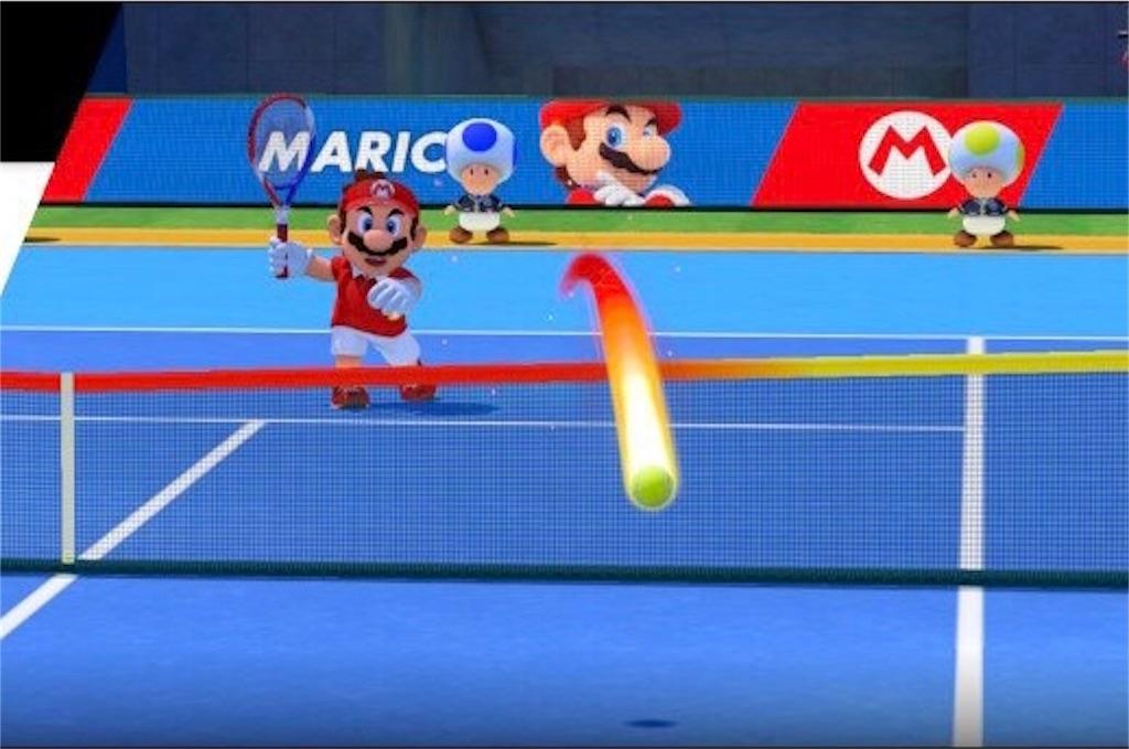 『マリオテニスエース』強打