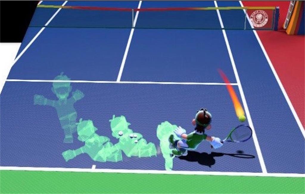 『マリオテニスエース』テクニカルショットの操作