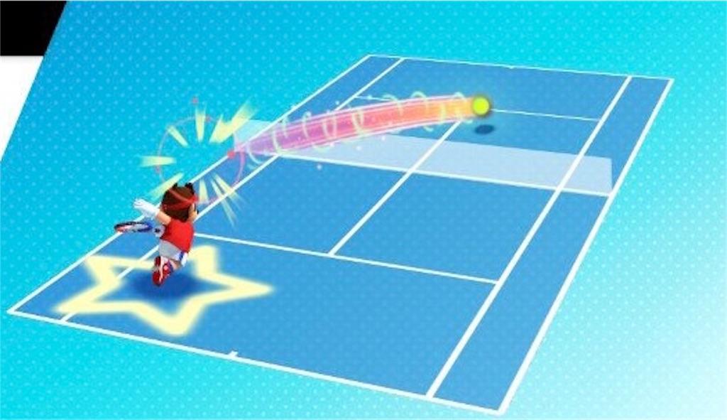 『マリオテニスエース』スマッシュの操作