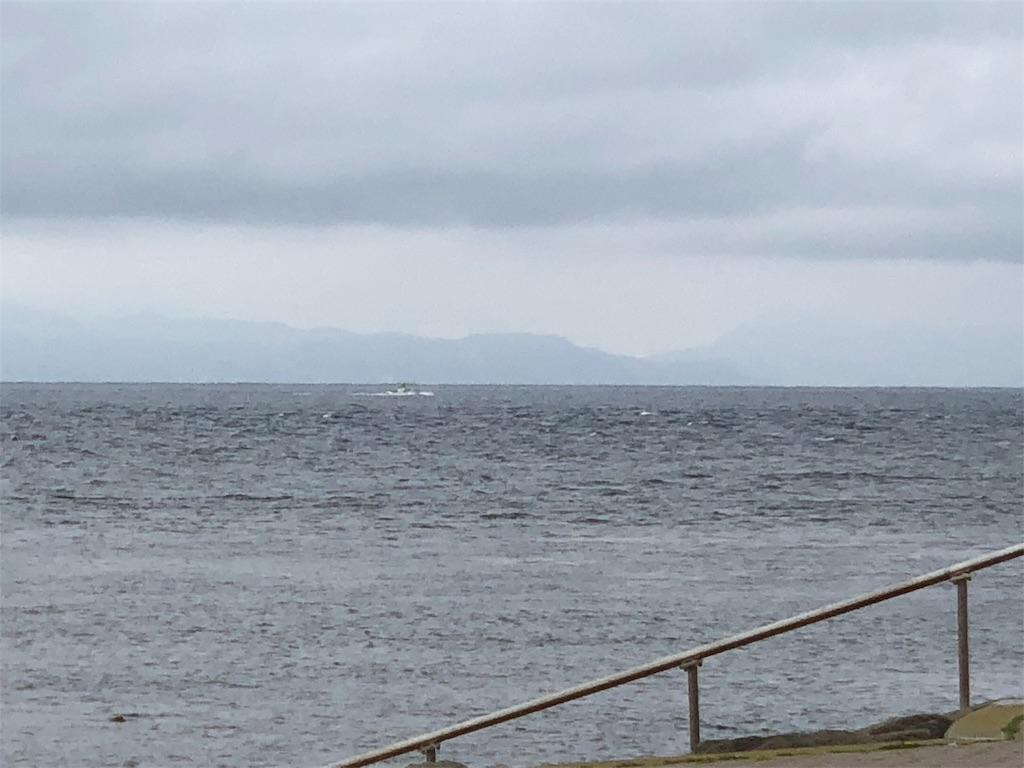 大間崎からみた北海道