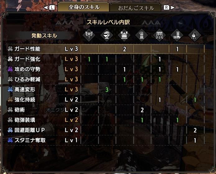 『MHライズ』夜走盾斧【冥冥裏】装備スキル